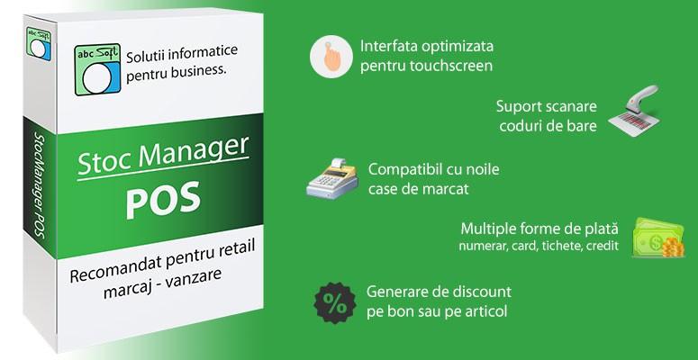 Stoc Manager POS - program vanzare, marcaj
