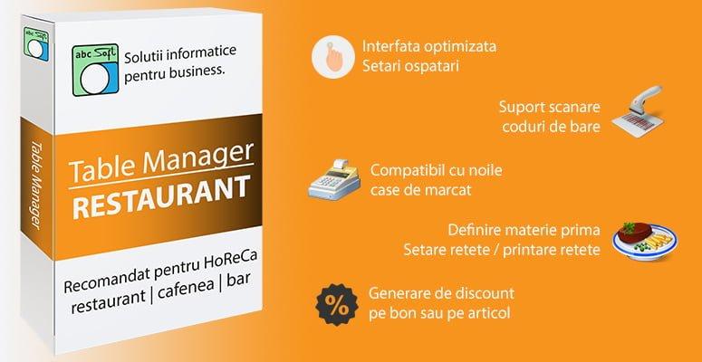 Table Manager - Soft pentru restaurant, cafenea, bar