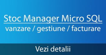 Stoc Manager Micro SQL - program vanzare gestiune facturare