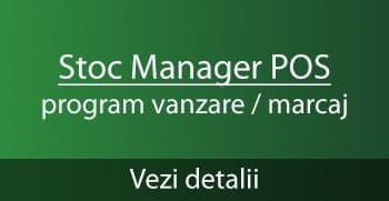 Stoc Manager POS - program marcaj vanzare